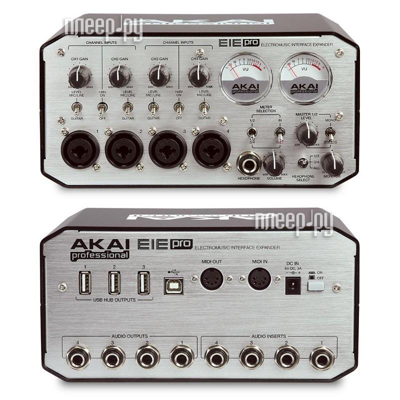 Звуковая карта Akai PRO EIE Pro аудио/MIDI-интерфейс  Pleer.ru  10100.000