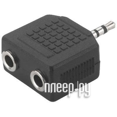 Аксессуар Rexant Plug 3.5mm - Jack 2x 3.5mm 14-0423-01 делитель