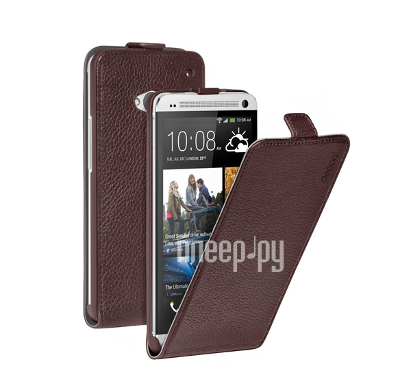 Аксессуар Чехол HTC One Deppa Flip Cover Brown 81016