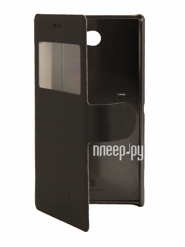 Аксессуар Чехол Sony Xperia M2 Nillkin Fresh Series Leather Case Black  Pleer.ru  1149.000