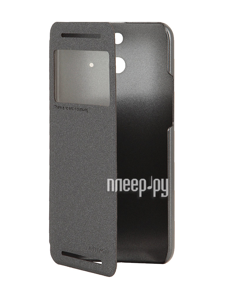 Аксессуар Чехол HTC One E8 Nillkin Sparkle Leather Case Black  Pleer.ru  1149.000