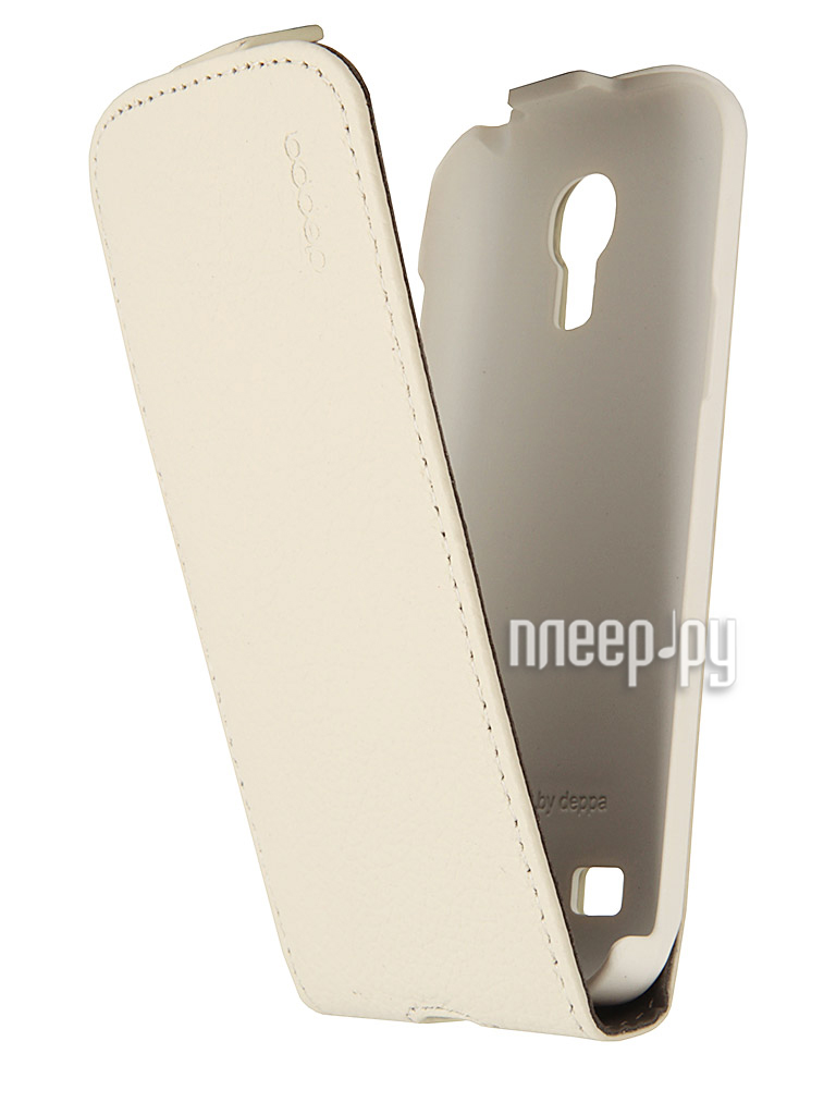 Аксессуар Чехол Samsung Galaxy S4 mini Deppa Flip Cover + защитная пленка White 81023  Pleer.ru  1234.000