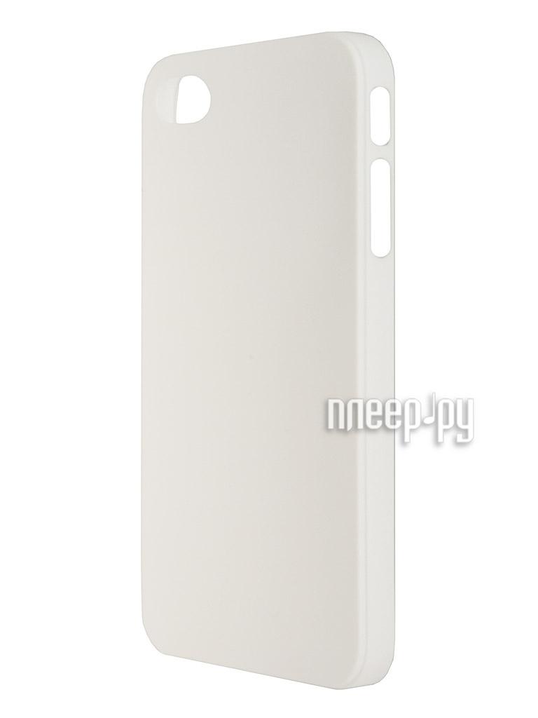 Аксессуар Чехол + защитная пленка Deppa Sky Case for iPhone 4 / 4S White 86005  Pleer.ru  1083.000