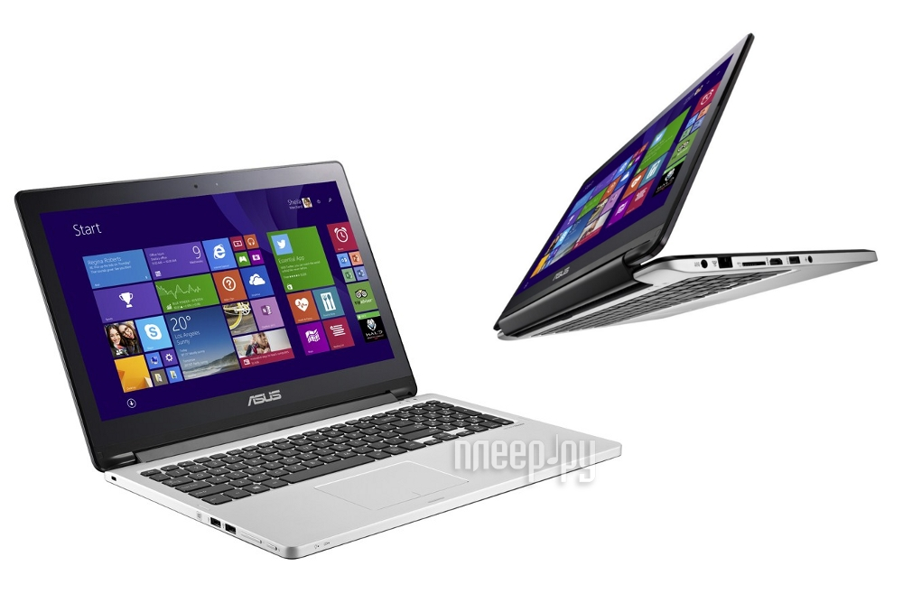 Ноутбук ASUS TP500LA-CJ060H 90NB05R1-M00680 (Intel Core i3-4030U 1.9 Ghz/4096Mb/750Gb/No ODD/Intel HD Graphics/Wi-Fi/Cam/15.6/1366x768/Windows 8.1 64-bit)  Pleer.ru  23587.000