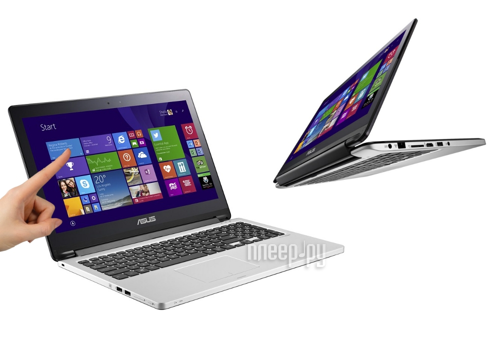 Ноутбук ASUS TP500LA-CJ061H 90NB05R1-M00690 Intel Core i5-4210U 1.7 GHz/4096Mb/1000Gb/No ODD/Intel HD Graphics 4400/Wi-Fi/Bluetooth/Cam/15.6/1366x768/Touchscreen/Windows 8.1 64-bit  Pleer.ru  25448.000