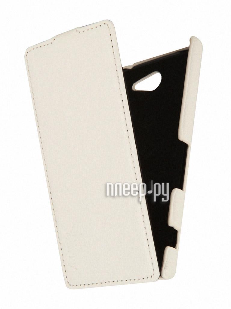 Аксессуар Чехол Sony D2302 Xperia M2 Dual Aksberry White  Pleer.ru  1129.000