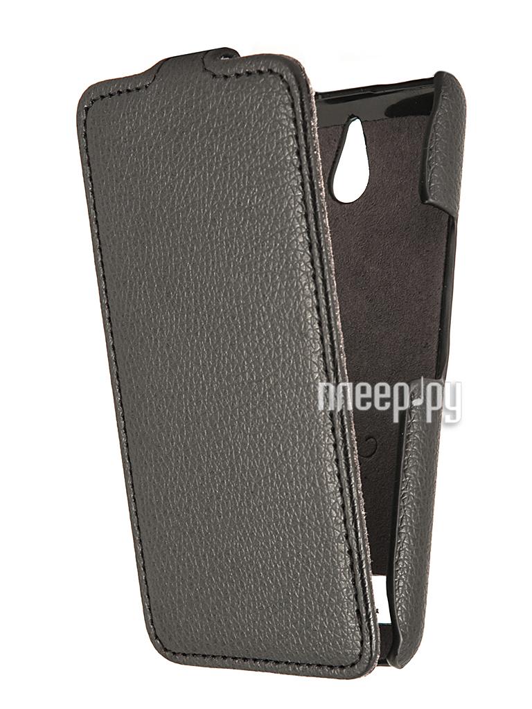 Аксессуар Чехол Sony Xperia E1 Dual D2105 Partner Flip-case Black  Pleer.ru  1021.000