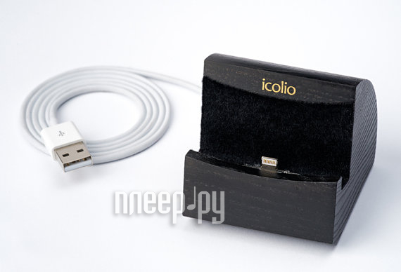 Аксессуар Док-станция Icolio for iPhone 5 / 5S / 5C Black Ico5black  Pleer.ru  1338.000