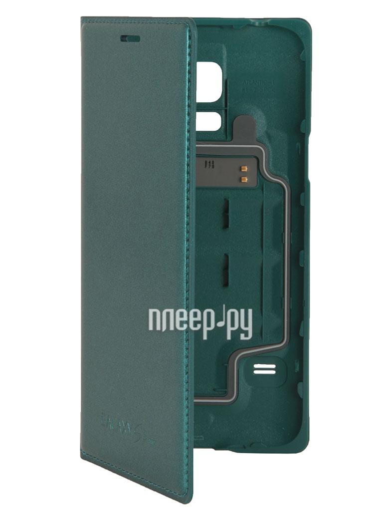 Аксессуар Чехол Samsung SM-G800 Galaxy S5 mini S-View Flip Cover EF-FG800BGEGRU Green  Pleer.ru  1806.000