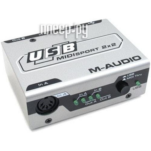 Звуковая карта M-Audio MidiSport 2x2 USB  Pleer.ru  2238.000