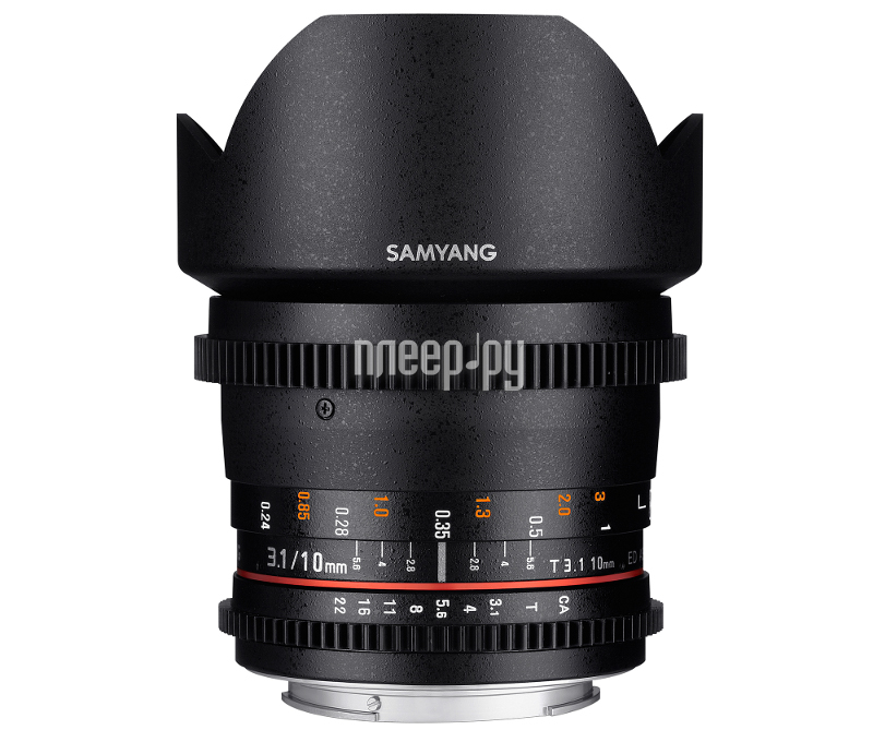 Объектив Samyang Sony E NEX MF 10 mm T3.1 ED AS NCS CS VDSLR