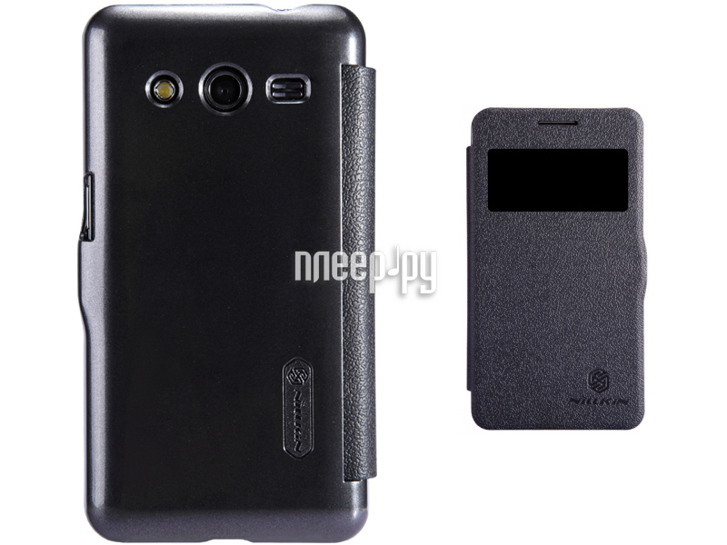Аксессуар Чехол Samsung SM-G355H Galaxy Core 2 Nillkin Fresh Series Leather Case Black T-N-SG355H-001  Pleer.ru  1199.000