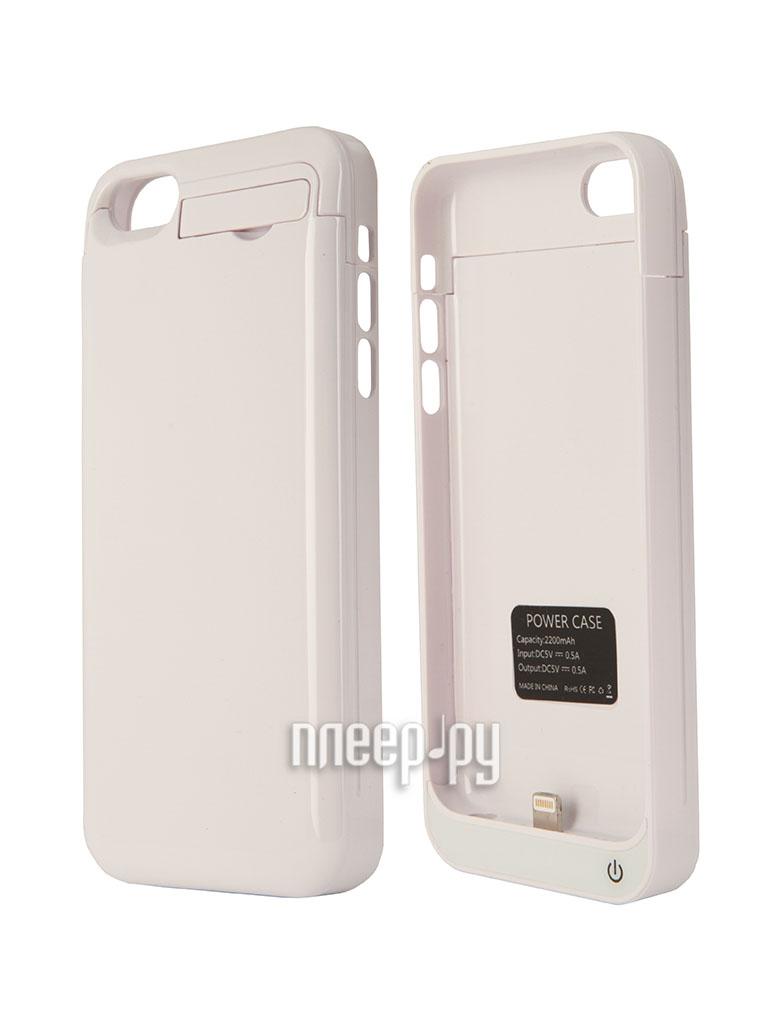 Аккумулятор Aksberry 5C for iPhone 5 / 5S 2200 mA White  Pleer.ru  1390.000