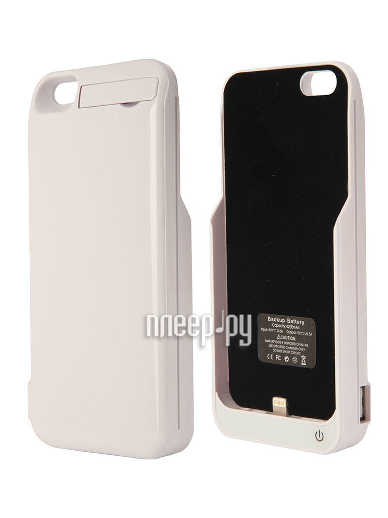 Аккумулятор Aksberry 5GB for iPhone 5 / 5S 4200 mA White  Pleer.ru  1590.000