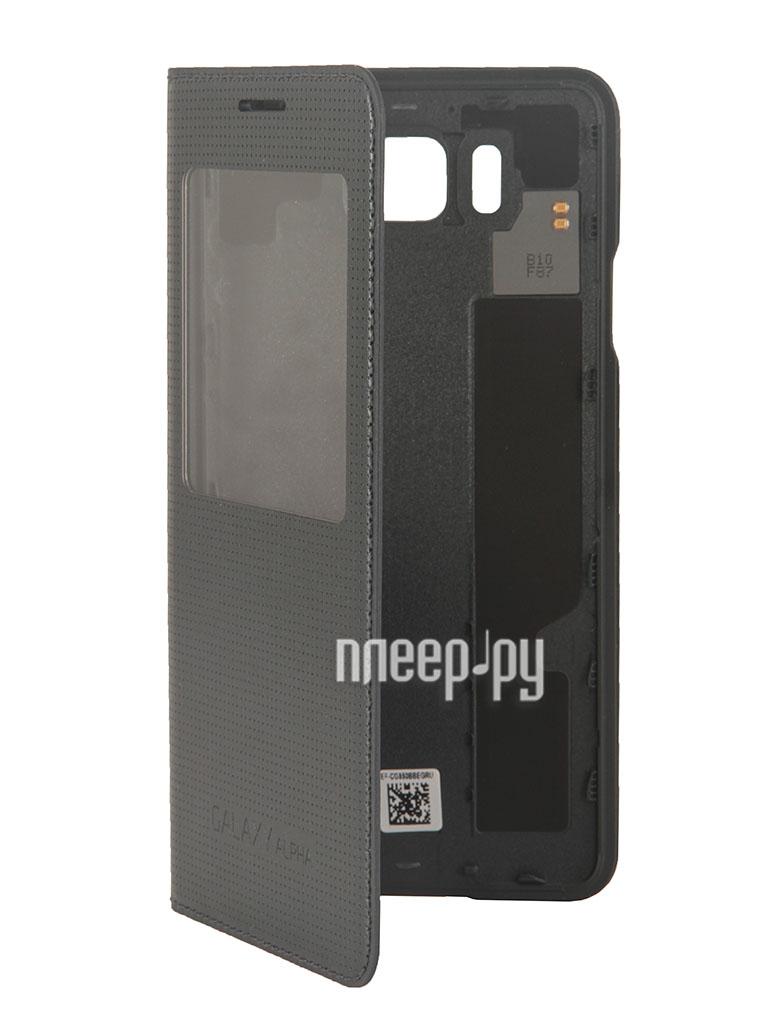 Аксессуар Чехол Samsung SM-G850 Galaxy Alpha S-View Black EF-CG850BBEGRU  Pleer.ru  2110.000