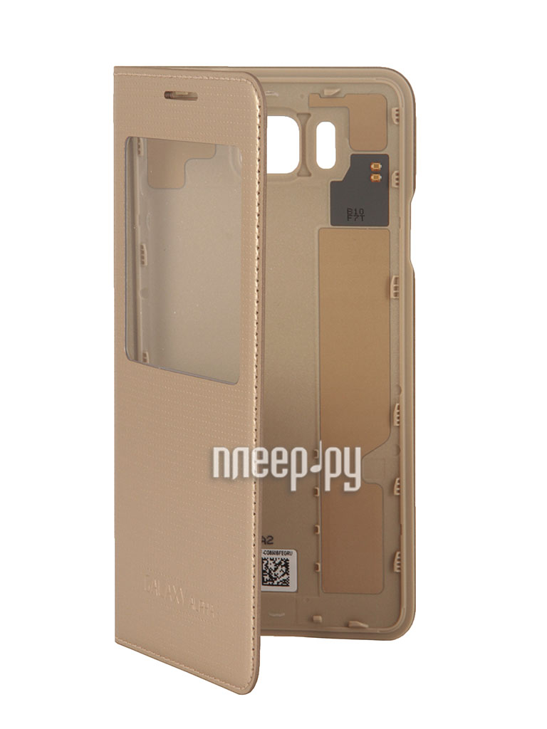 Аксессуар Чехол Samsung SM-G850 Galaxy Alpha S-View Gold EF-CG850BFEGRU  Pleer.ru  2110.000