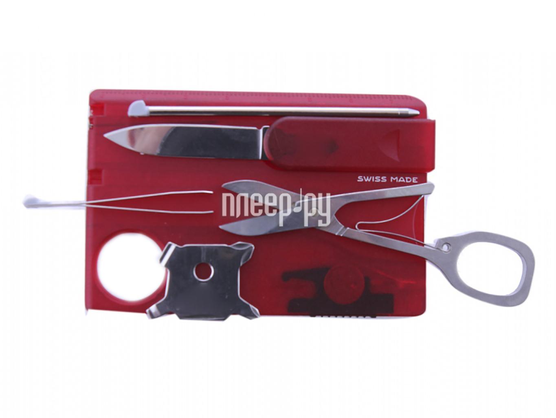 Мультитул Victorinox SwissCard Lite 0.7300.T Translucent Red  Pleer.ru  983.000