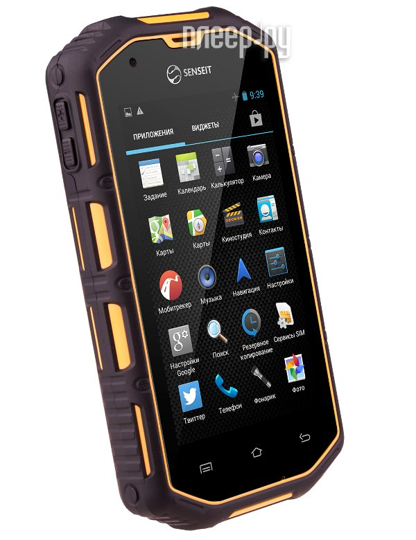 Сотовый телефон Senseit R390 Yellow  Pleer.ru  6391.000
