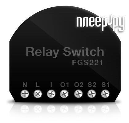 Пульт ДУ Fibaro Double Switch 2x1.5kW FIB_FGS-221 встраиваемое двойное реле  Pleer.ru  2949.000