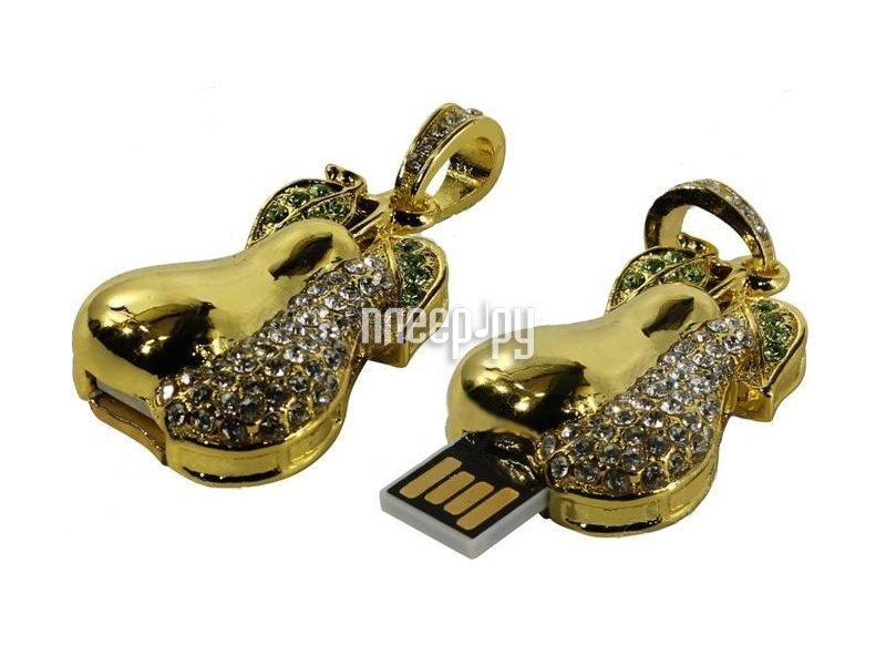 USB Flash Drive 16Gb - Iconik Груша Golden Swarovski MTFC-PEAR-16GB