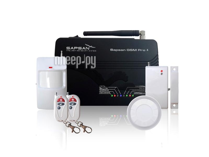 Комплект GSM сигнализация Sapsan GSM PRO 4 Эконом 00002601  Pleer.ru  4610.000