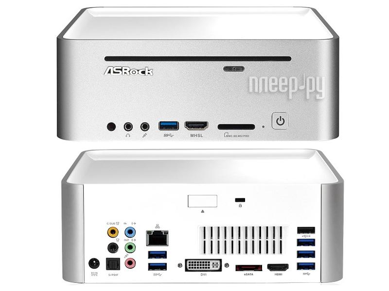 Неттоп ASRock Vision X 420D/W X420D-8G1T88/W White (Intel Core i5-4200M/8192Mb/1000Gb/DVD-SM/AMD Radeon HD8850M 1024Mb/Wi-Fi/Gigabit Lan/No OS)  Pleer.ru  38128.000