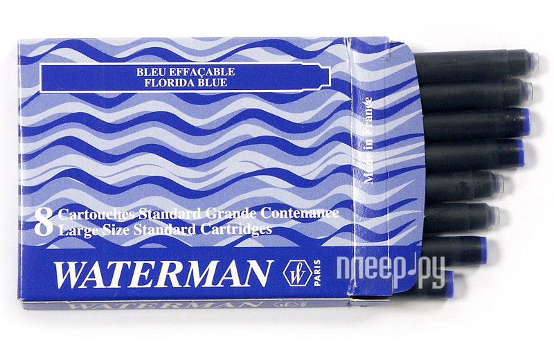 Waterman Standard Blue S0110860 - Картридж (8шт)  Pleer.ru  302.000