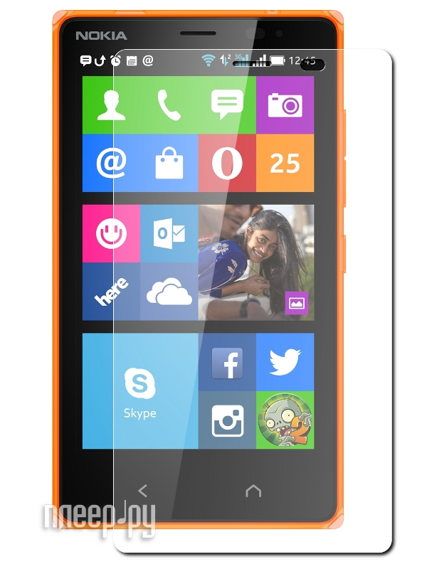 Аксессуар Стекло противоударное Nokia X2 Ainy 0.33mm  Pleer.ru  707.000