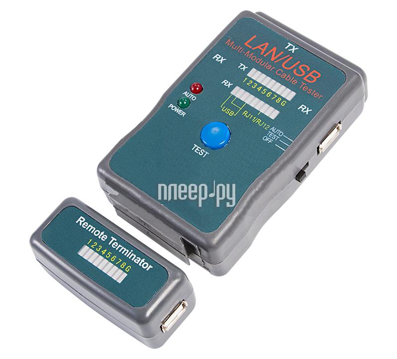 Аксессуар Rexant RJ-45+USB (HY-251454CT) 12-1011 тестер кабелей  Pleer.ru  677.000