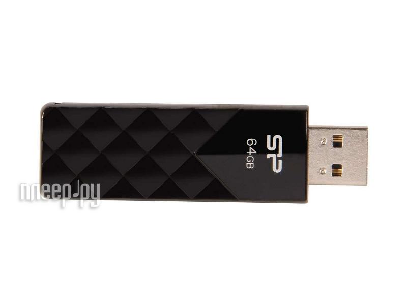USB Flash Drive 64Gb - Silicon Power Ultima U03 Black SP064GBUF2U03V1K