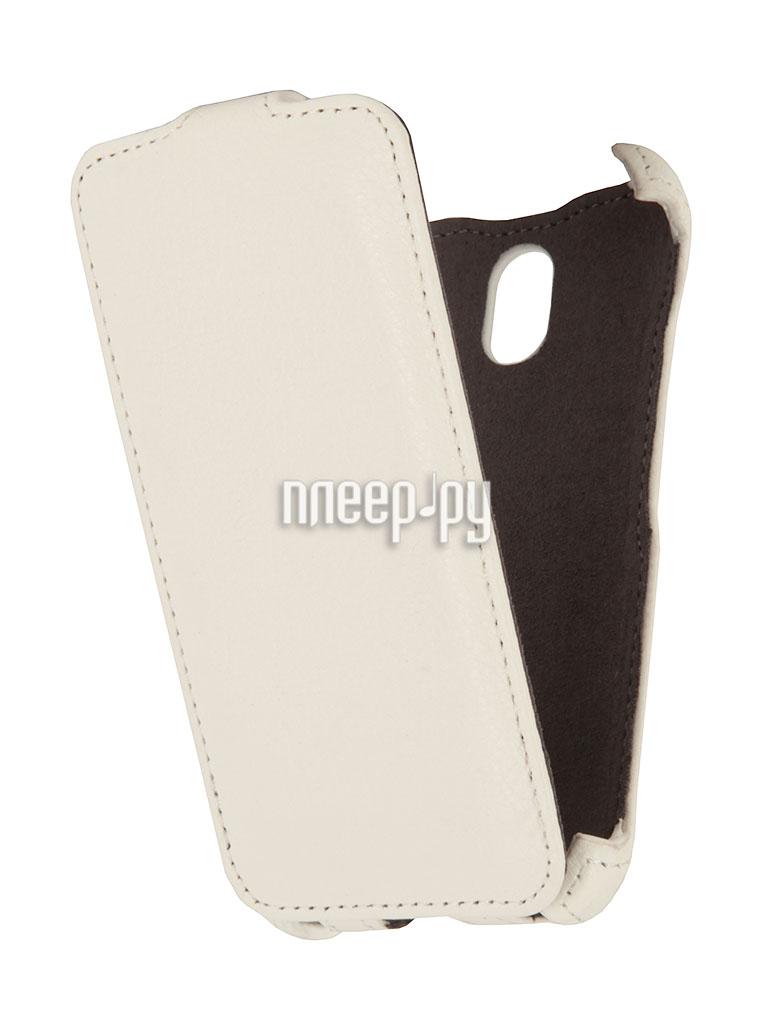 Аксессуар Чехол HTC Desire 210 / 210 Dual Sim EcoStyle Flip Sheel White ESH-F-HTC210-WH  Pleer.ru  1100.000