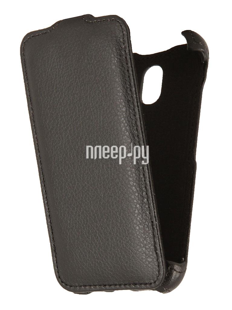 Аксессуар Чехол HTC Desire 210 / 210 Dual Sim EcoStyle Flip Sheel Black ESH-F-HTC210-BL  Pleer.ru  1100.000