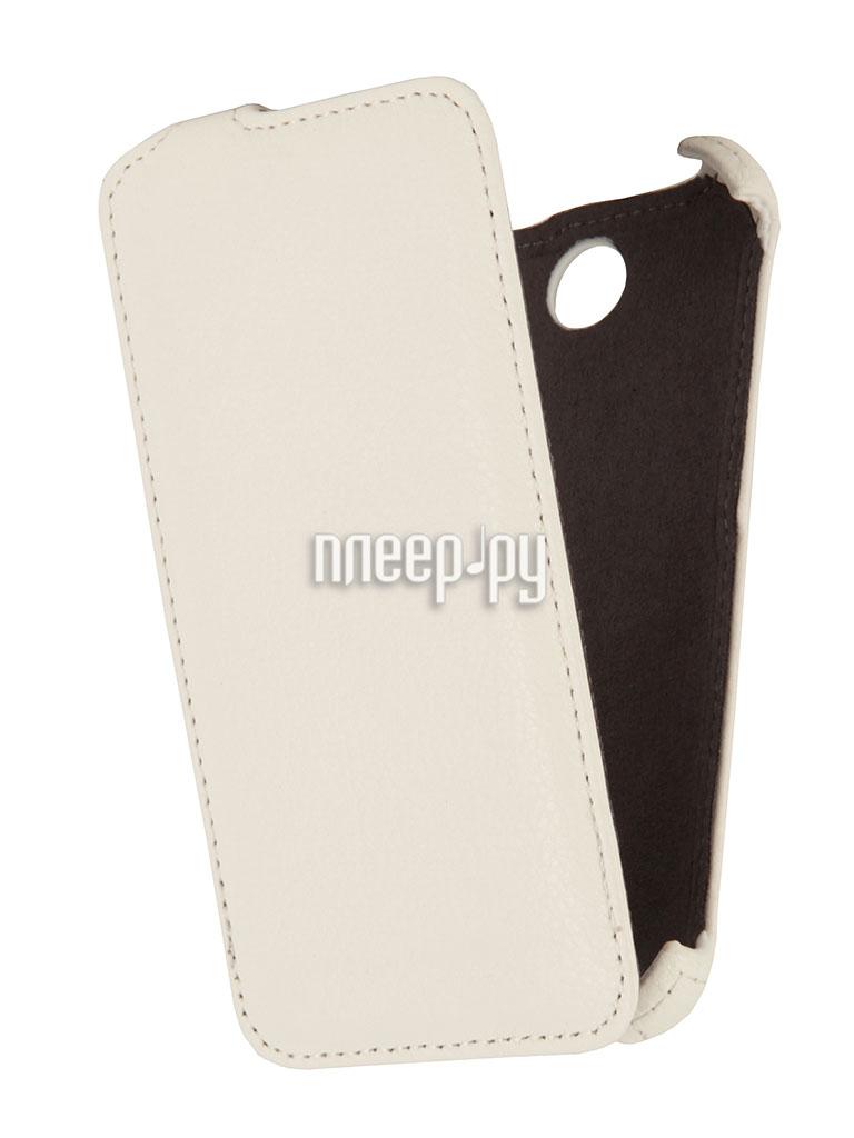 Аксессуар Чехол HTC Desire 310 / 310 Dual Sim EcoStyle Flip Sheel White ESH-F-HTC310-WH  Pleer.ru  1100.000