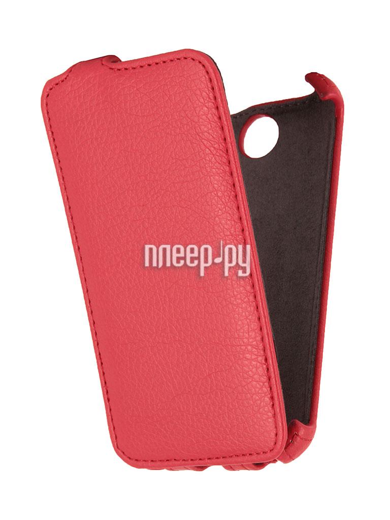 Аксессуар Чехол HTC Desire 310 / 310 Dual Sim EcoStyle Flip Sheel Red ESH-F-HTC310-RED  Pleer.ru  1100.000