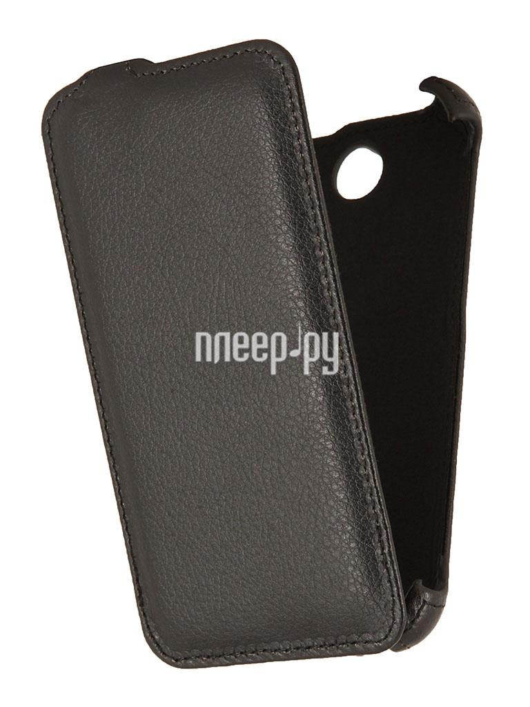 Аксессуар Чехол HTC Desire 310 / 310 Dual Sim EcoStyle Flip Sheel Black ESH-F-HTC310-BL  Pleer.ru  1100.000