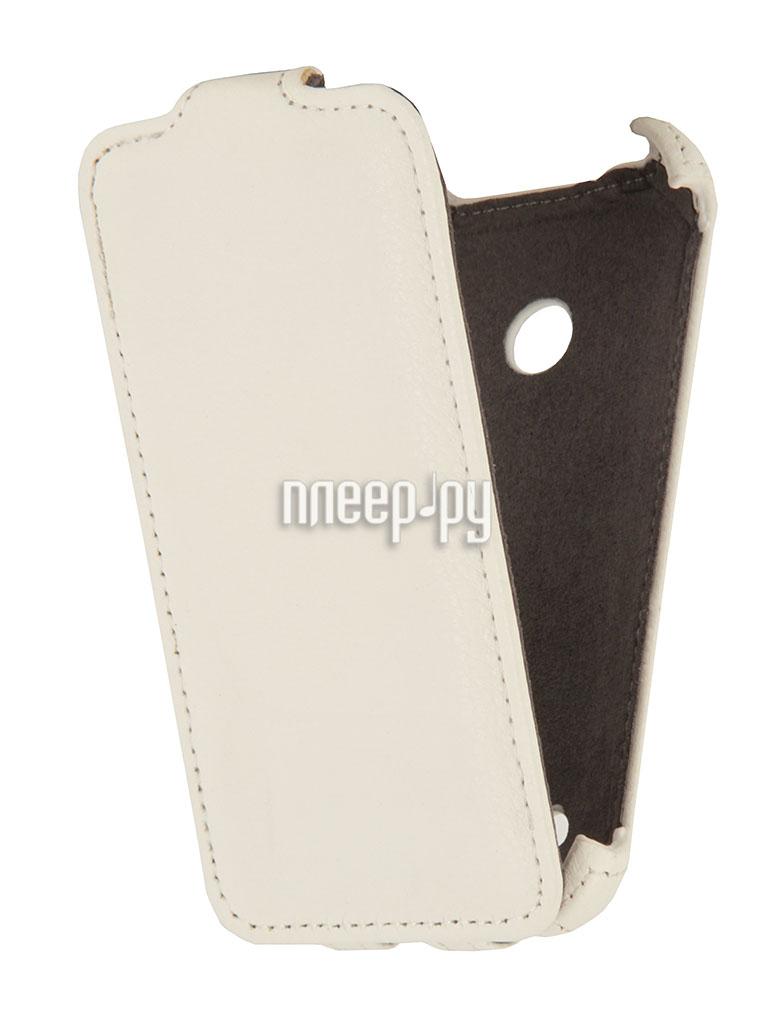 Аксессуар Чехол Nokia Lumia 530 EcoStyle Flip Sheel White ESH-F-NOKLU530-WH  Pleer.ru  1100.000