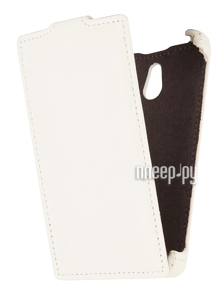 Аксессуар Чехол Nokia X2 EcoStyle Flip Sheel White ESH-F-NOKX2-WH  Pleer.ru  1100.000