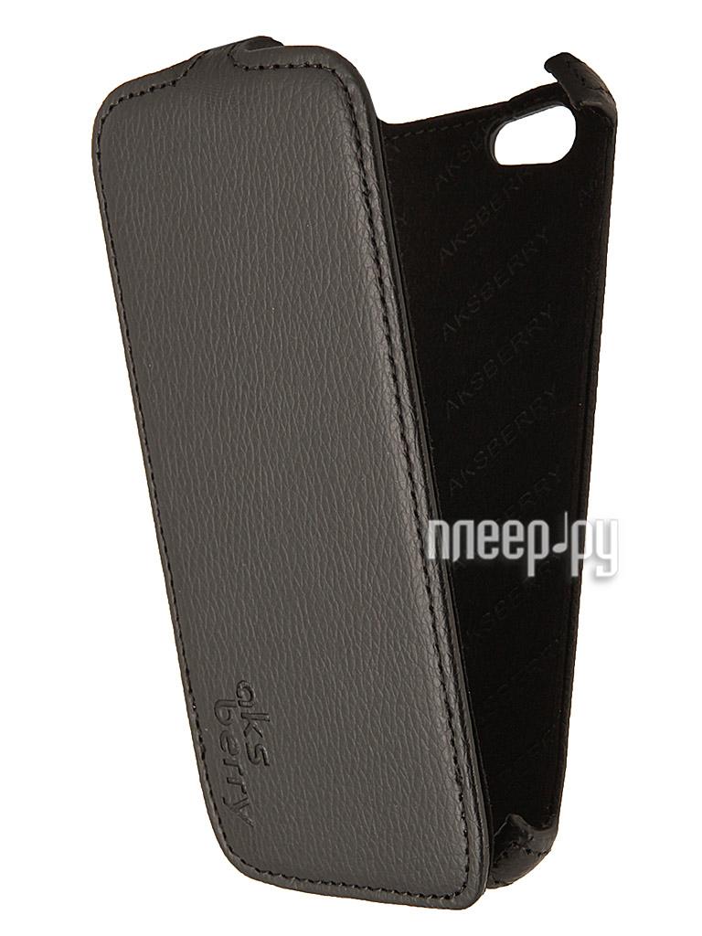 Аксессуар Чехол Fly IQ4405 QUAD Silver Aksberry Black  Pleer.ru  1129.000