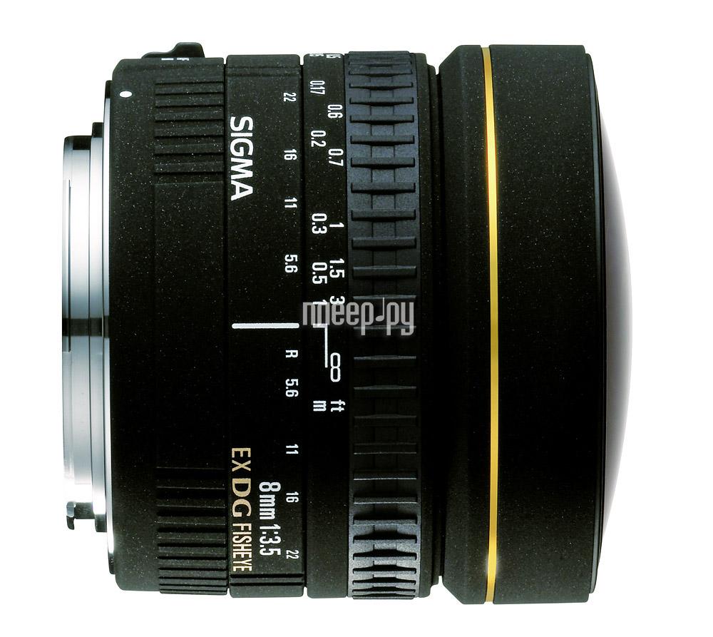 Объектив Sigma Canon AF 8 mm F/3.5 EX DG Circular Fisheye