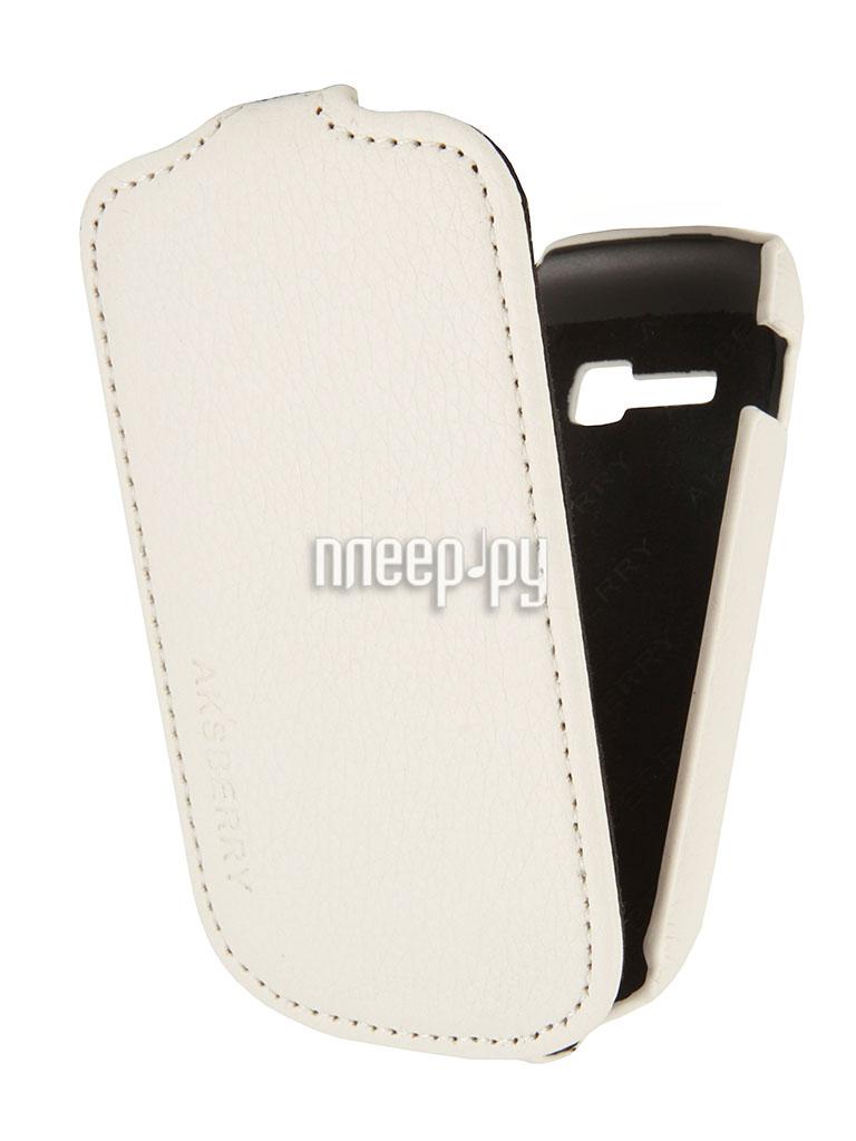Аксессуар Чехол Samsung Galaxy Fame Lite S6790 Aksberry White  Pleer.ru  1129.000