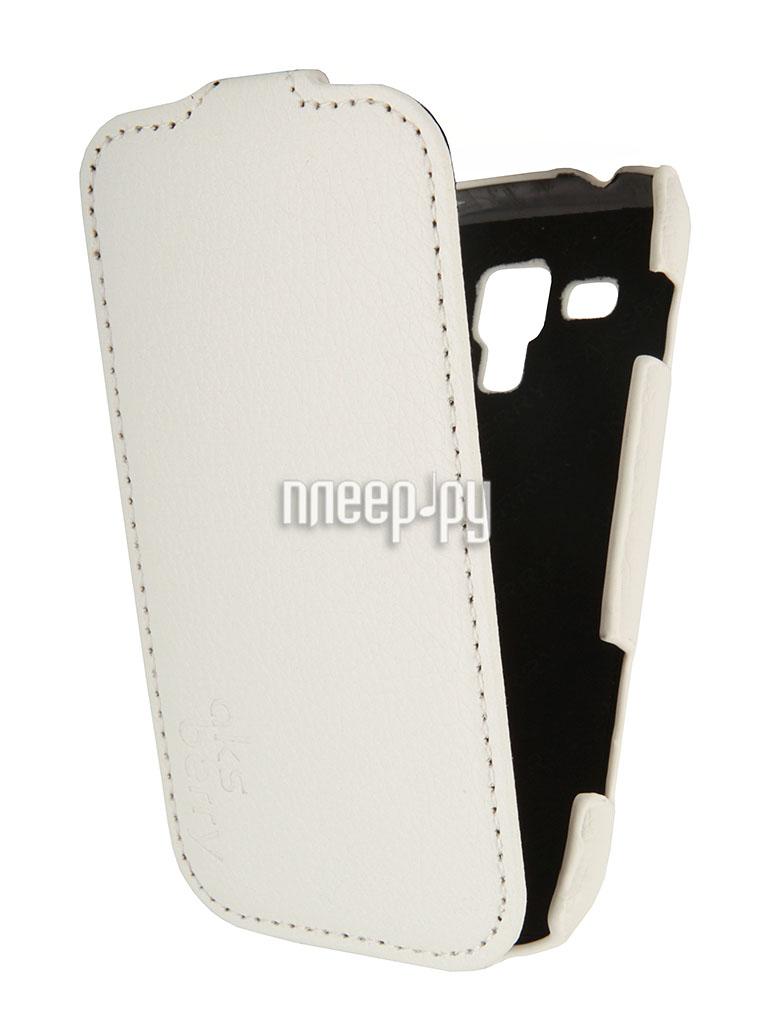 Аксессуар Чехол Samsung Galaxy Trend Plus GT-S7582 Aksberry White  Pleer.ru  1129.000