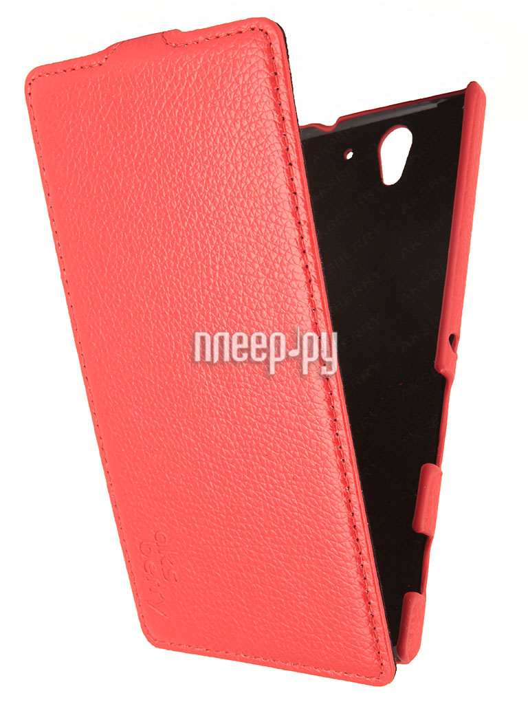 Аксессуар Чехол Sony Xperia C3 Aksberry Red  Pleer.ru  1129.000