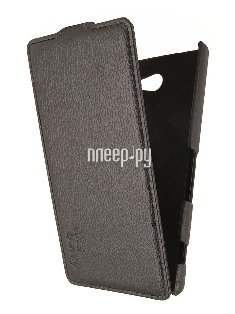 Аксессуар Чехол Sony D2302 Xperia M2 Dual Aksberry Black  Pleer.ru  1129.000
