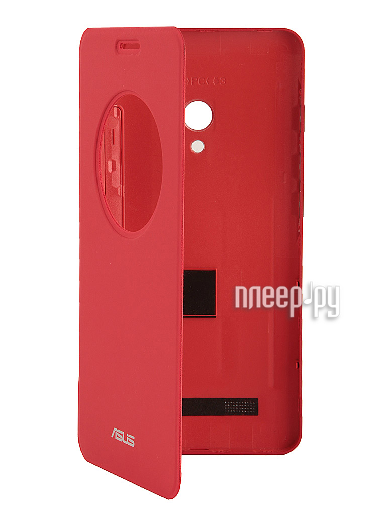 Аксессуар Чехол ASUS ZenFone 5 View Flip Cover Red  Pleer.ru  1730.000