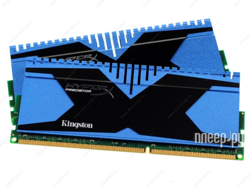 Модуль памяти Kingston HyperX Blue Series PC3-19200 DIMM DDR3 2400MHz CL11 - 8Gb KIT (2x4Gb) KHX324C11T2K2/8X  Pleer.ru  4613.000