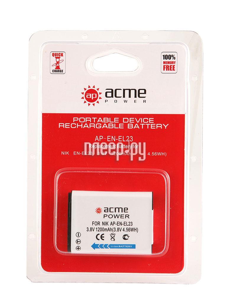 Аккумулятор AcmePower EN-EL23  Pleer.ru  983.000