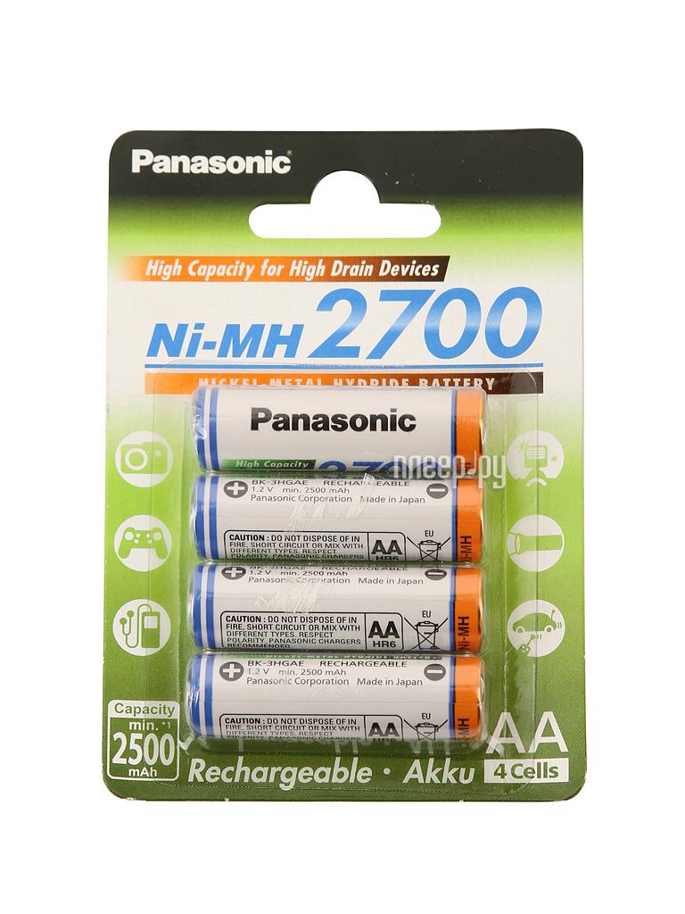 Аккумулятор AA - Panasonic Eneloop Pro 2700 mAh (4 штуки) BK-3HGAE/4BE  Pleer.ru  787.000