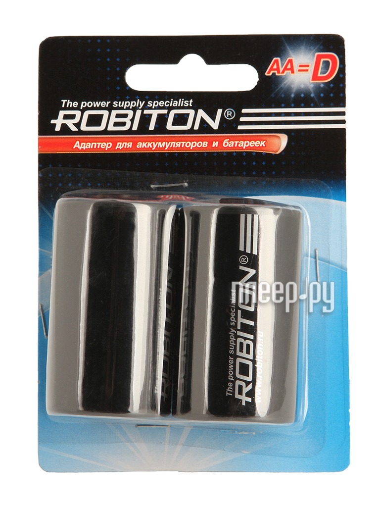 Аксессуар Robiton Adaptor-AA-D BL2 (2 штуки) - адаптер D  Pleer.ru  243.000