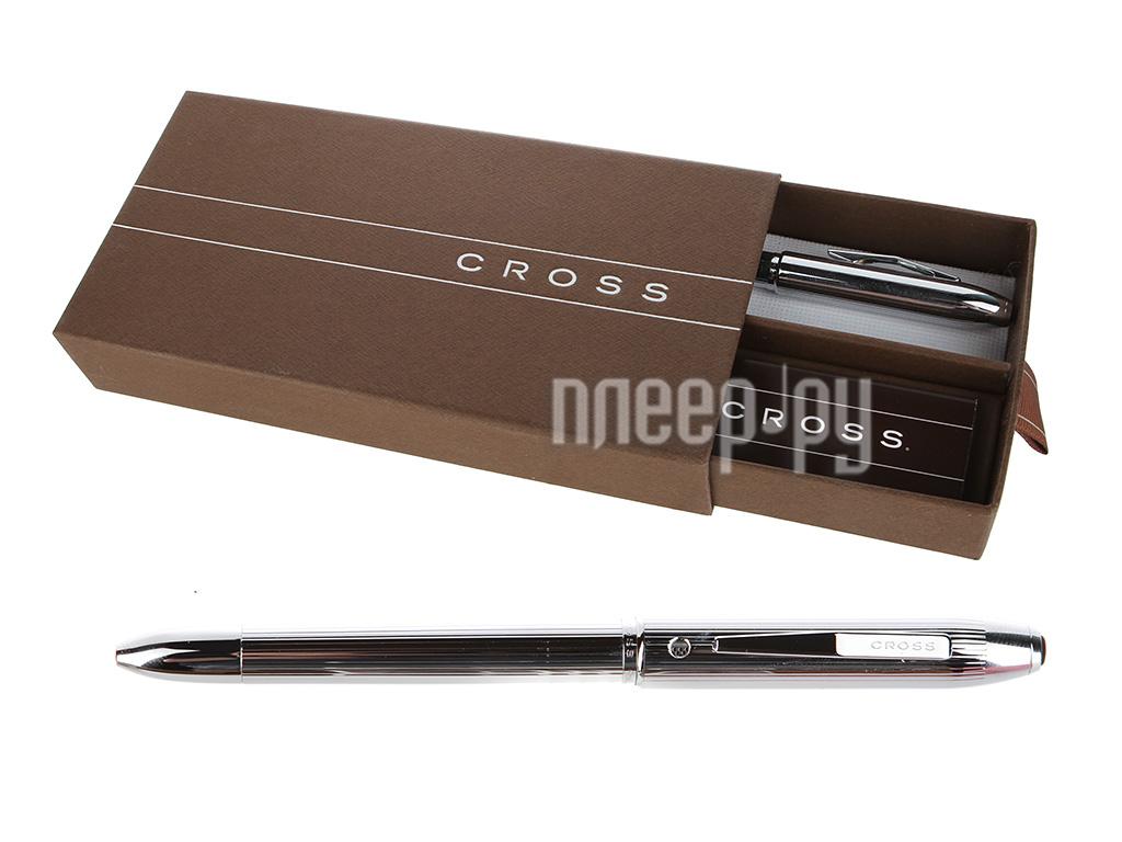 Ручка Cross Tech4 Lustrous Chrome AT0610-3  Pleer.ru  1401.000