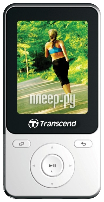 Плеер Transcend MP710 - 8Gb TS8GMP710W White-Black  Pleer.ru  2730.000